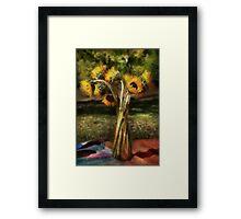 Flower - Sunflower - Vase of Sunshine Framed Print
