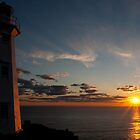 Sunrise Lighthouse - Cape Spear, Nfld by Benjamin Brauer