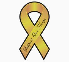 Support our Troops - Yellow Ribbon by avdesigns