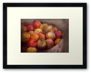 Food - Peaches - Farm fresh peaches  by Mike  Savad