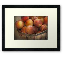 Food - Peaches - Just Peachy Framed Print