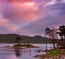 Sunset at Loch Assynt, Scotland by Gabor Pozsgai