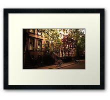 Summer in Greenwich Village Framed Print