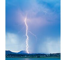 Lightning Strike Colorado Rocky Mountain Foothills Boulder Count Photographic Print