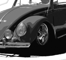 Made in Germany perfected in My Garage bug B&W Sticker
