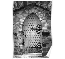Nail Studded Door Poster