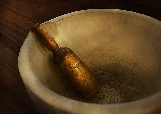 Pharmacy - Pestle - Mortar Grinder  by Mike  Savad