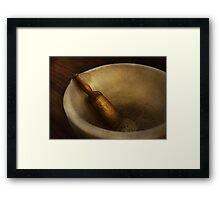 Pharmacy - Pestle - Mortar Grinder  Framed Print
