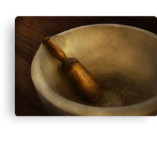 Pharmacy - Pestle - Mortar Grinder  Canvas Print