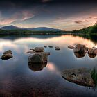 Loch Morlich - Sunset, Scotland by David Lewins LRPS