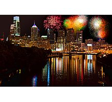 Pennsylvania. Philadelphia. Independence Day Fireworks. Photographic Print