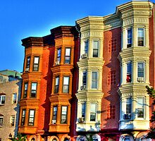 old Brownstone architecture of Brooklyn  by henuly1