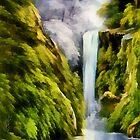Waterfall by ellenspaintings