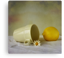 Still life with one flower Canvas Print