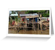 Stilt House - Mekong Delta Greeting Card