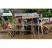 Stilt House - Mekong Delta Photographic Print