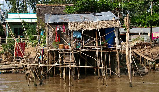 Stilt House - Mekong Delta by Jordan Miscamble