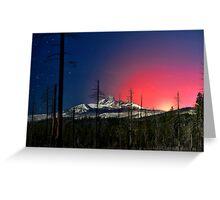 Three Fingered Jack Sunset  ~ Oregon Cascades ~ Greeting Card