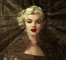 Marilyn~Against A Wall by Suzanne Macon