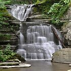 Unnamed falls at Robert Treman State Park by Jill Vadala