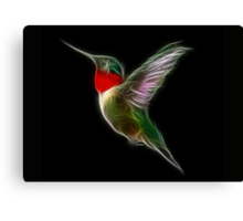 Medicine Wheel Totem Animals by Liane Pinel- Hummingbird Canvas Print