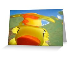 Rubber Duckie Snorkeling Greeting Card