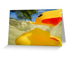 Abstract of Rubber Ducky Greeting Card