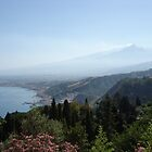 Peaceful Etna on the horizon, Taormine by jos2507