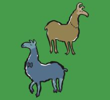 llamas with an attitude by greendeer