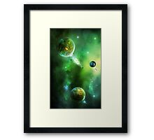 Greenday Space Framed Print