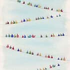 Birds on Wires by lnzart