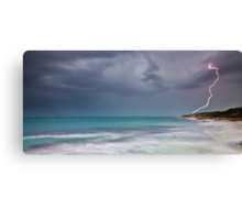 Lightning over Burns Beach Canvas Print