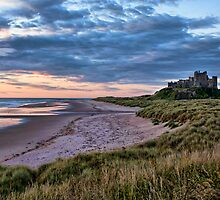 Sunrise At Bamburgh by Lynne Morris