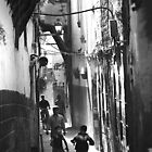 Two Boys Running Damascus by John Wreford