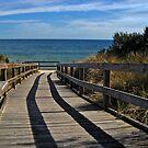 Boardwalk . . . to the beach (HDR) by Jan Clarke