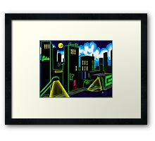"""IntenseCity: Neon Nights"" Framed Print"