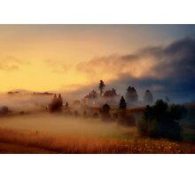 Misty village Photographic Print