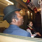 Riding on the vintage subway train, NYC  by RonnieGinnever