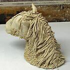 Horse head sculpture by LorrieBee