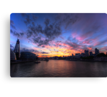 Excandescent Sunset Canvas Print