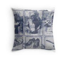 Vigilante Blueprint Throw Pillow
