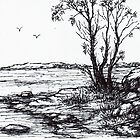 Lakeside Sketch by Margaret Stockdale
