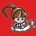 Martial Arts/Karate Girl - Jumping Split Kick by fujiapple