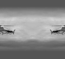 Helicopters in flying my way by Norma-jean Morrison