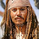 The notorious Captain Jack Sparrow, aka Johnny Depp. by Paulino Pagalleria