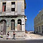 Havana Street, Cuba by Lynn Bolt