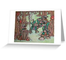 The camoflauge goblin search for enemies Greeting Card