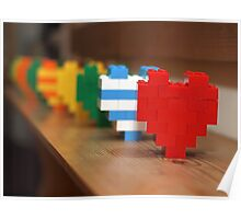 lego hearts Poster