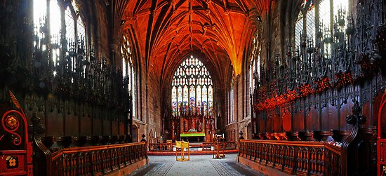 St Mary's Church, Nantwich Quire and Chancel by Dave Godden
