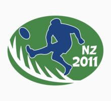 rugby player kicking ball new zealand 2011 by patrimonio